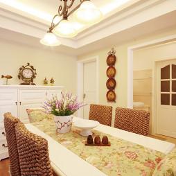 欧式田园风格餐厅餐座椅图片