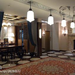 混搭風格中餐廳壁爐設計