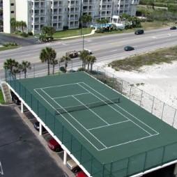 塑胶网球场效果图