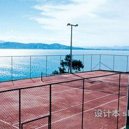 塑胶网球场效果图欣赏