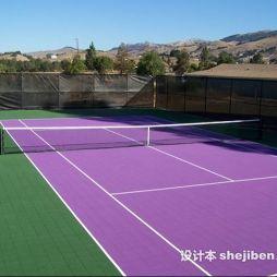 塑胶网球场效果图集大全欣赏