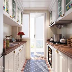 简欧风格整体厨房设计图