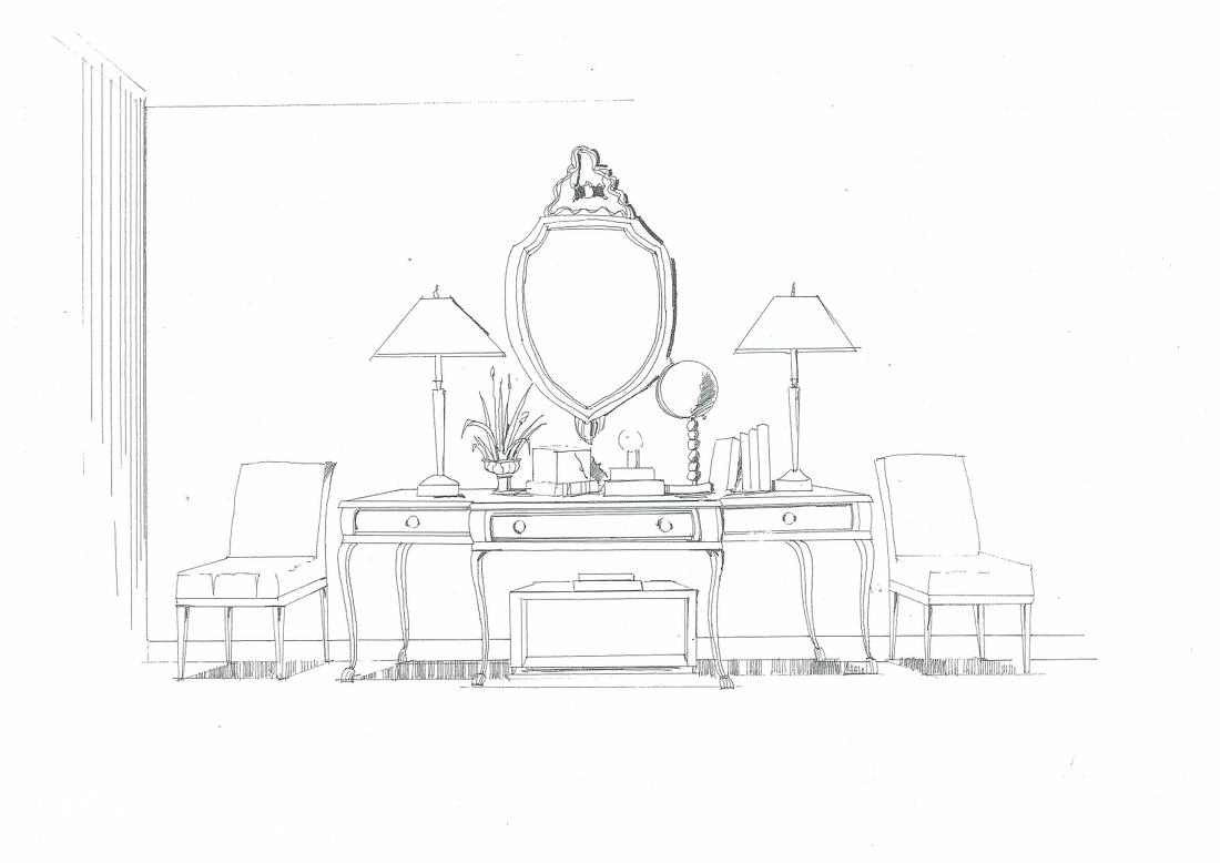 家具手绘_手绘家具图片 – 设计本装修效果图