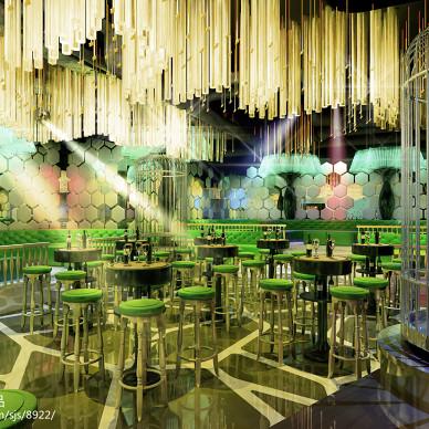 酒吧桌椅效果图图集