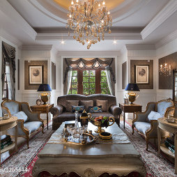 欧式别墅客厅效果图