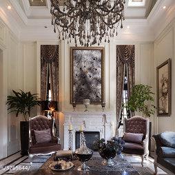 新古典风格客厅壁炉装修设计