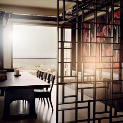客厅和餐厅隔断效果图图片