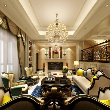 欧式家装客厅效果图片