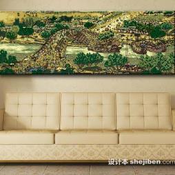 中国油画效果图图片