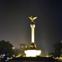 灯光雕塑效果图片