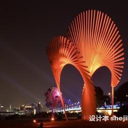 灯光雕塑效果图图库