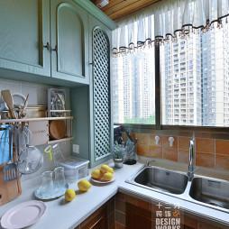 田园厨房装修不锈钢水槽效果图