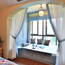 田园卧室飘窗设计