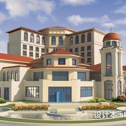 酒店景观设计效果图库大全