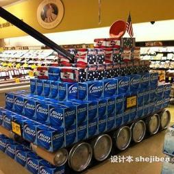 超市创意陈列效果图片
