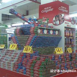 超市创意陈列效果图库大全
