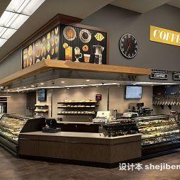 超市展示柜效果图