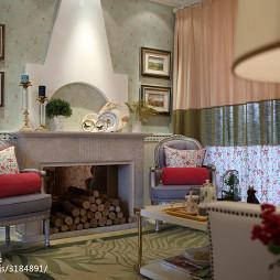 美式田园风格客厅样板房设计