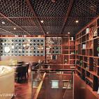 中式咖啡厅吊顶设计