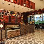 中式咖啡厅收银台装修效果图