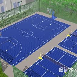 球场围网效果图图片