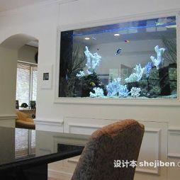 鱼缸造景效果图集
