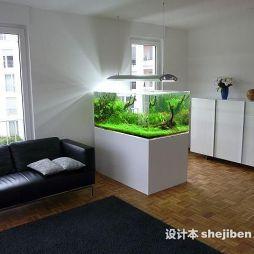 鱼缸造景效果图图片
