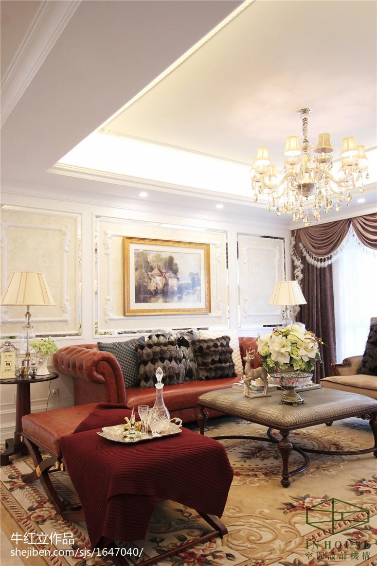 欧式家装样板间_欧式风格客厅样板间设计效果图 – 设计本装修效果图