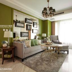 清新现代客厅样板间设计