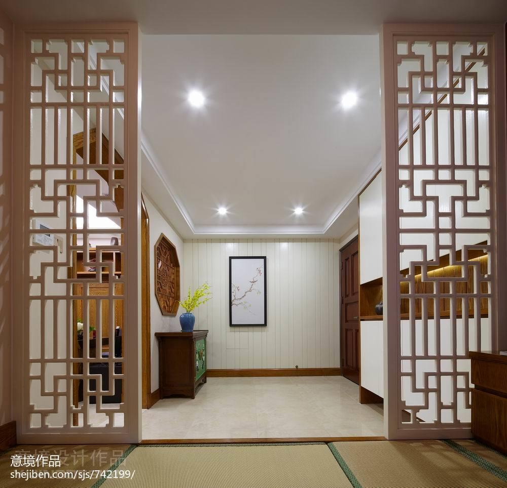 餐厅吊灯模型_现代中式玄关装修效果图大全欣赏 – 设计本装修效果图
