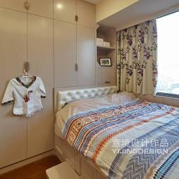 现代中式儿童卧室装修设计效果图