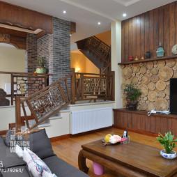 现代中式别墅客厅装修设计