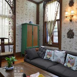 现代中式别墅客厅装修图片