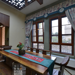 现代中式别墅餐厅装修设计