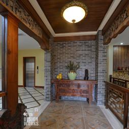 中式复古别墅过道装修设计