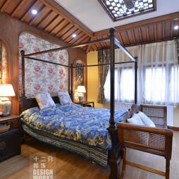 现代中式别墅卧室装修设计