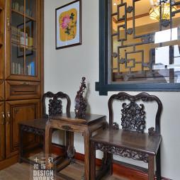 现代中式别墅书房装修设计