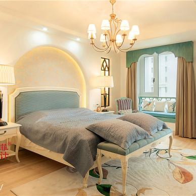 混搭地中海风格卧室窗户装修设计