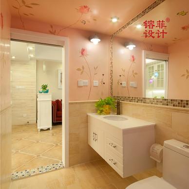 田园卫浴陶瓷浴室柜效果图
