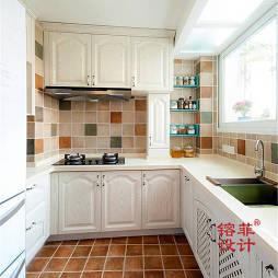 混搭风格厨房地板铺砖效果图