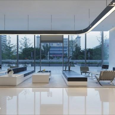 现代混搭风格售楼中心大厅装修效果图