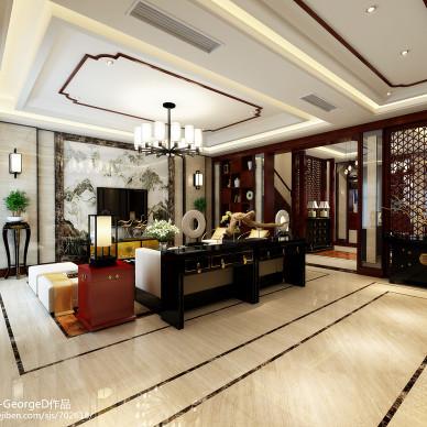 中式别墅客厅效果图库