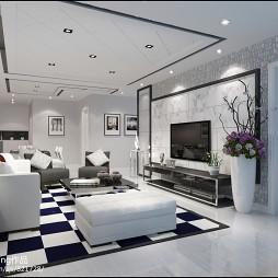 客厅黑白设计风格效果图