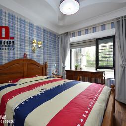 美式卧室风格壁纸效果图片