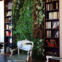 混搭风格瑜伽会所植物墙设计