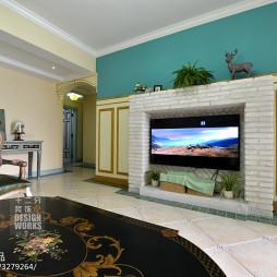 欧式风格客厅电视墙设计效果图