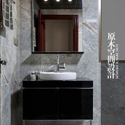 欧式卫浴洗脸盆柜组合设计效果图
