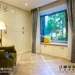 别墅美式休闲区窗户榻榻米设计效果图