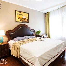 别墅美式卧室复古灯饰效果图