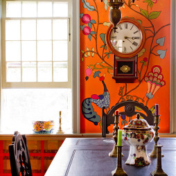 田园风格家装墙体彩绘图片库